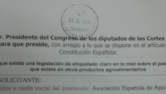 Escrito etiquetado Congreso